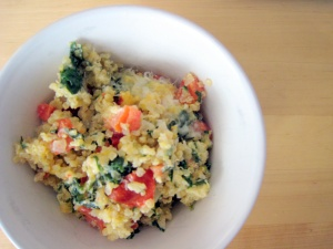baked-quinoa-with-spinach-and-cheese
