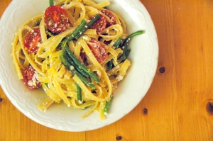 linguine-with-green-beans-ricotta-and-lemon