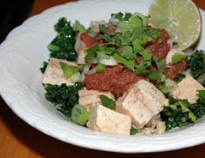 tofu-with-rhubarb-sauce